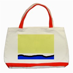 Yellow And Blue Simple Design Classic Tote Bag (red) by Valentinaart