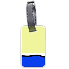 Yellow And Blue Simple Design Luggage Tags (one Side)  by Valentinaart