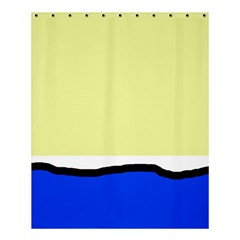 Yellow And Blue Simple Design Shower Curtain 60  X 72  (medium)  by Valentinaart