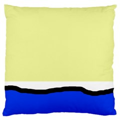 Yellow And Blue Simple Design Large Cushion Case (two Sides) by Valentinaart