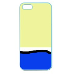 Yellow And Blue Simple Design Apple Seamless Iphone 5 Case (color) by Valentinaart