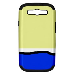 Yellow And Blue Simple Design Samsung Galaxy S Iii Hardshell Case (pc+silicone) by Valentinaart