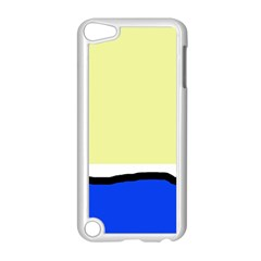 Yellow And Blue Simple Design Apple Ipod Touch 5 Case (white) by Valentinaart