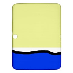 Yellow And Blue Simple Design Samsung Galaxy Tab 3 (10 1 ) P5200 Hardshell Case  by Valentinaart