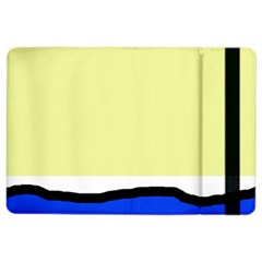 Yellow And Blue Simple Design Ipad Air 2 Flip by Valentinaart