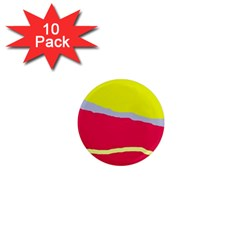 Red And Yellow Design 1  Mini Magnet (10 Pack)  by Valentinaart