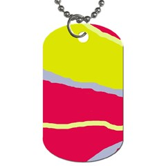 Red And Yellow Design Dog Tag (two Sides) by Valentinaart