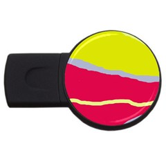 Red And Yellow Design Usb Flash Drive Round (2 Gb)  by Valentinaart