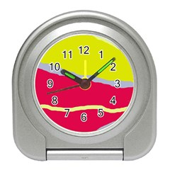 Red And Yellow Design Travel Alarm Clocks by Valentinaart