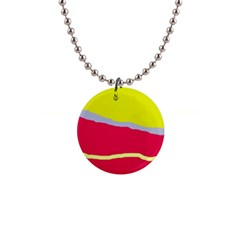 Red And Yellow Design Button Necklaces by Valentinaart