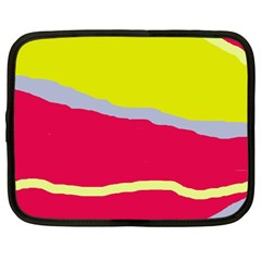 Red And Yellow Design Netbook Case (large) by Valentinaart