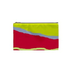 Red And Yellow Design Cosmetic Bag (small)  by Valentinaart
