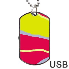 Red And Yellow Design Dog Tag Usb Flash (two Sides)  by Valentinaart