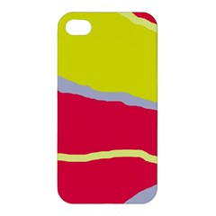 Red And Yellow Design Apple Iphone 4/4s Premium Hardshell Case by Valentinaart
