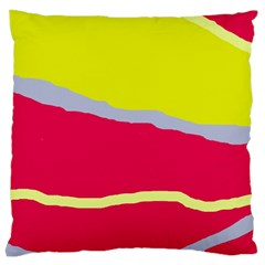 Red And Yellow Design Large Cushion Case (one Side) by Valentinaart
