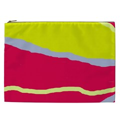 Red And Yellow Design Cosmetic Bag (xxl)  by Valentinaart