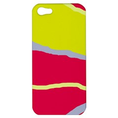 Red And Yellow Design Apple Iphone 5 Hardshell Case by Valentinaart