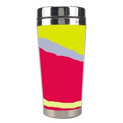 Red And Yellow Design Stainless Steel Travel Tumblers by Valentinaart