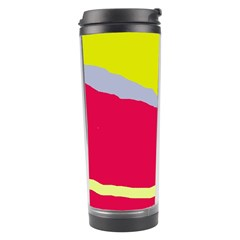 Red And Yellow Design Travel Tumbler by Valentinaart