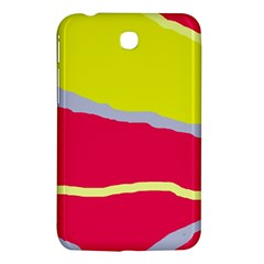 Red And Yellow Design Samsung Galaxy Tab 3 (7 ) P3200 Hardshell Case  by Valentinaart
