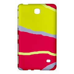 Red And Yellow Design Samsung Galaxy Tab 4 (7 ) Hardshell Case  by Valentinaart