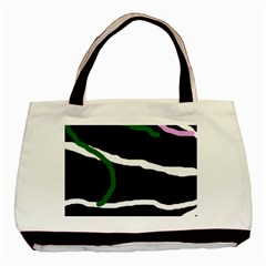Decorative Lines Basic Tote Bag (two Sides) by Valentinaart