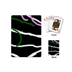 Decorative Lines Playing Cards (mini)  by Valentinaart