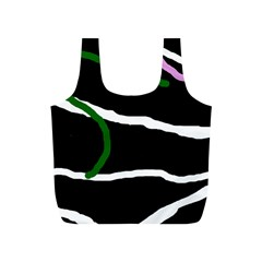 Decorative Lines Full Print Recycle Bags (s)  by Valentinaart