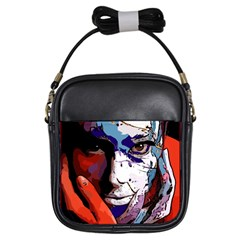 Her Smudged Girl s Sling Bag by DryInk