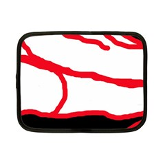 Red, Black And White Design Netbook Case (small)  by Valentinaart