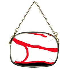Red, Black And White Design Chain Purses (one Side)  by Valentinaart