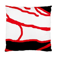 Red, Black And White Design Standard Cushion Case (one Side) by Valentinaart