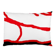 Red, Black And White Design Pillow Case by Valentinaart