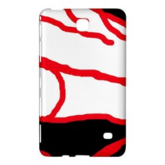 Red, Black And White Design Samsung Galaxy Tab 4 (7 ) Hardshell Case  by Valentinaart