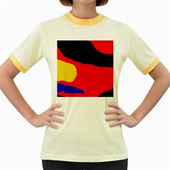 Colorful Abstraction Women s Fitted Ringer T Shirts by Valentinaart