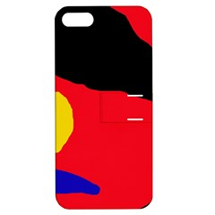 Colorful Abstraction Apple Iphone 5 Hardshell Case With Stand by Valentinaart