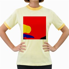 Colorful Abstraction Women s Fitted Ringer T Shirts