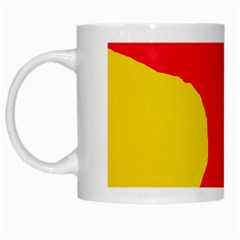 Colorful Abstraction White Mugs by Valentinaart