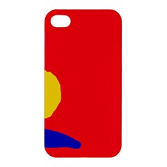 Colorful Abstraction Apple Iphone 4/4s Premium Hardshell Case by Valentinaart