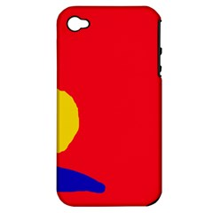 Colorful Abstraction Apple Iphone 4/4s Hardshell Case (pc+silicone) by Valentinaart