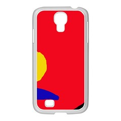 Colorful Abstraction Samsung Galaxy S4 I9500/ I9505 Case (white) by Valentinaart