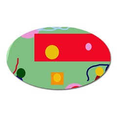 Optimistic Abstraction Oval Magnet by Valentinaart