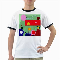 Optimistic Abstraction Ringer T Shirts by Valentinaart