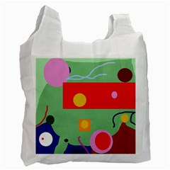 Optimistic Abstraction Recycle Bag (one Side) by Valentinaart