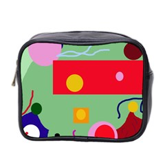 Optimistic Abstraction Mini Toiletries Bag 2 Side by Valentinaart