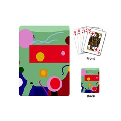 Optimistic Abstraction Playing Cards (mini)  by Valentinaart