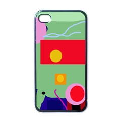 Optimistic Abstraction Apple Iphone 4 Case (black) by Valentinaart