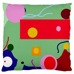 Optimistic Abstraction Large Cushion Case (one Side) by Valentinaart
