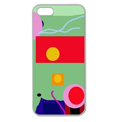 Optimistic Abstraction Apple Seamless Iphone 5 Case (clear) by Valentinaart