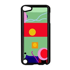 Optimistic Abstraction Apple Ipod Touch 5 Case (black) by Valentinaart